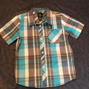 NWOT Boys Volcom button down shirt sz 6